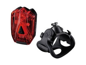 Infini Lava super bright micro USB rear light with QR bracket black with red lens