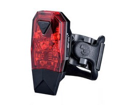 Infini Mini-Lava super bright micro USB rear light, black with red lens