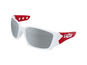 Lazer Magneto M2 Gloss White / Red frame grey + silver lens triple pack