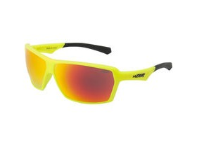 Lazer Frank Matt Flash Yellow frame grey + rainbow lens