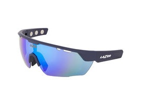 Lazer Magneto M3 Matt Dark Blue frame smoke + blue lens triple pack