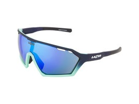 Lazer Walter Matt Dark Blue/Mint Green Gradient frame smoke + blue lens triple pack