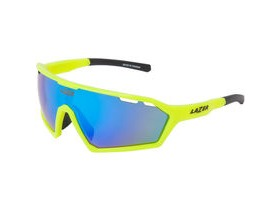 Lazer Walter Large Gloss Flash Yellow frame smoke + blue lens triple pack