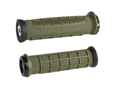 ODI Elite Pro MTB Lock On Grips 130mm - Army Green