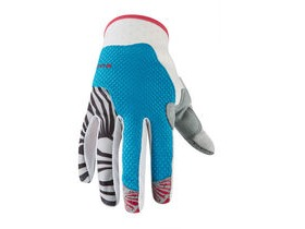 MADISON Flux women's gloves, caribbean blue / rose red