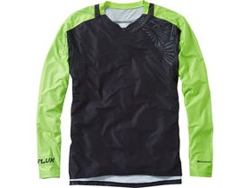 MADISON Flux Enduro men's long sleeve jersey, black / krypton lime