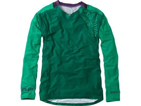 MADISON Flux Enduro men's long sleeve jersey, oak green / emerald green
