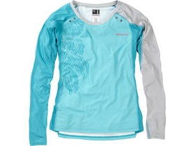 MADISON Flux Enduro women's long sleeve jersey, aqua blue / caribbean blue