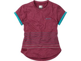 MADISON Leia women's short sleeved jersey, classy burgandy