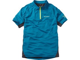MADISON Trail youth short sleeved jersey, china blue