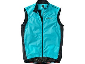 MADISON Road Race men's premio windproof shell gilet, blue curaco