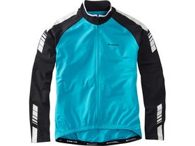 MADISON Peloton men's long sleeve thermal roubaix jersey, hawaiian blue