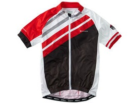 MADISON Sportive full-zip men's short sleeve jersey, red stripes