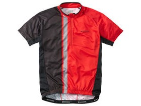MADISON Tour men's short sleeve jersey, flame red / black