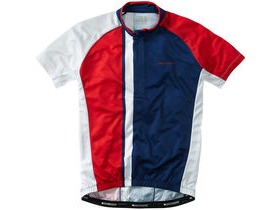 MADISON Tour men's short sleeve jersey, regal blue / flame red
