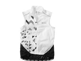 MADISON Sportive women's windproof shell gilet, white / black