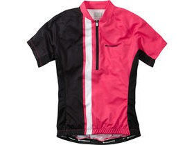 MADISON Tour women's short sleeve jersey, pink glo / black