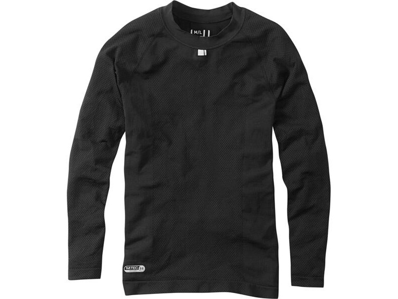 MADISON Isoler mesh men's long sleeve baselayer, black click to zoom image