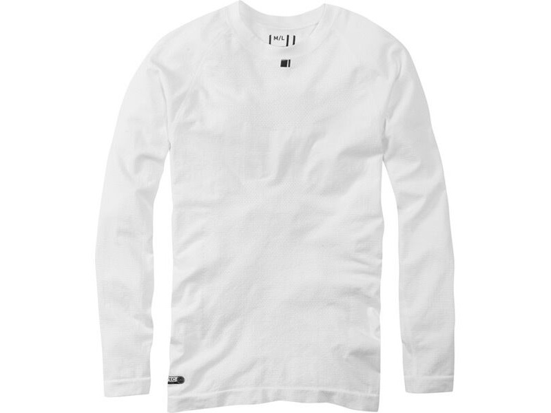 MADISON Isoler mesh men's long sleeve baselayer, white click to zoom image
