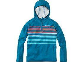 MADISON Zen youth long sleeve hooded top, china blue/blue curaco