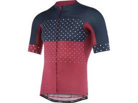 MADISON RoadRace Apex men's short sleeve jersey, classy burgundy/ink blue hex dots