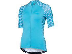 MADISON Sportive women's short sleeve jersey, blue curaco geo camo
