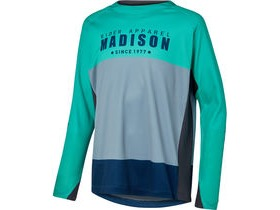 MADISON Alpine youth long sleeve jersey, mint green/ink navy
