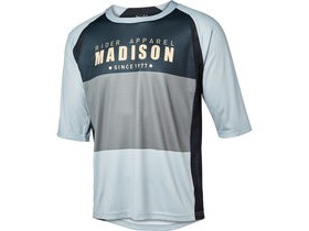 MADISON Alpine men's 3/4 sleeve jersey, black/cloud grey