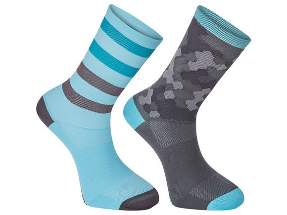 MADISON Sportive long sock twin pack, hex camo blue curaco/phantom click to zoom image