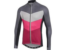 MADISON Sportive men's long sleeve thermal jersey, chevron grey / burgundy
