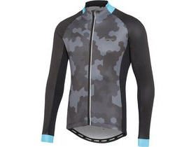 MADISON Sportive men's long sleeve thermal jersey, hex camo black / blue