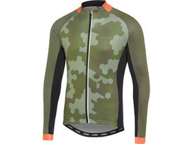 MADISON Sportive men's long sleeve thermal jersey, hex camo dark olive / red