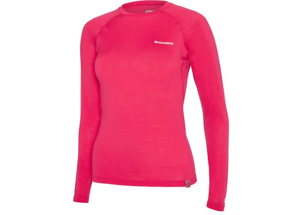 MADISON Isoler Merino women's long sleeve baselayer, rose red click to zoom image
